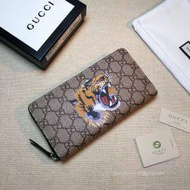 Gucci Kingsnake print GG Supreme zip around wallet 451273 211767