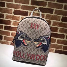 Gucci Wolf Print GG Supreme Backpack 419584 Collection