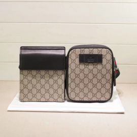 Gucci GG Supreme belt bag 450956 Beige&black