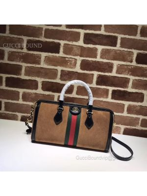 Gucci Ophidia Medium Top Handle Bag Brown 524532