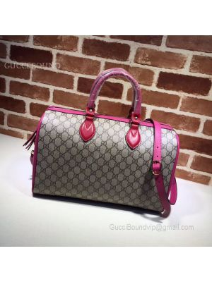 Gucci GG Supreme Guccissima Convertible Boston Bag Violet 409527