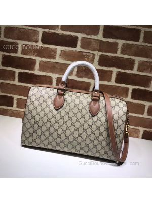 Gucci GG Supreme Guccissima Convertible Boston Bag Brown 409527