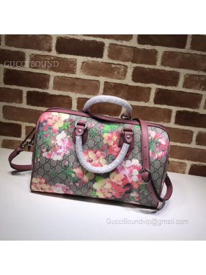 Gucci GG Supreme Guccissima Convertible Boston Bag Blooming 409527
