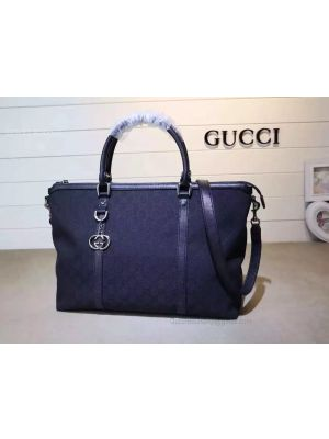 Gucci GG Pattern 2WAY Shoulder Boston Bag Dark Blue 339550