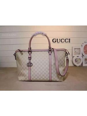 Gucci GG Pattern 2WAY Shoulder Boston Bag Pink 339550