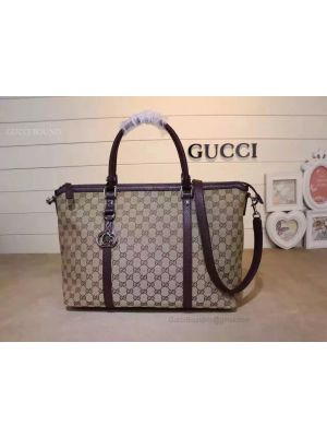 Gucci GG Pattern 2WAY Shoulder Boston Bag Brown 339550
