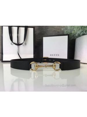 Gucci Leather Belt With Horsebit Black 30mm