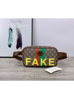 Gucci 'Fake/Not' print belt bag 602695 213111