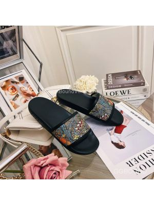Gucci x Disney GG Donald Duck Slides Sandal Black 2191316