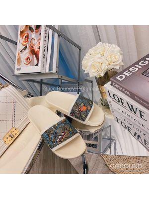 Gucci x Disney GG Donald Duck Slides Sandal White 2191317